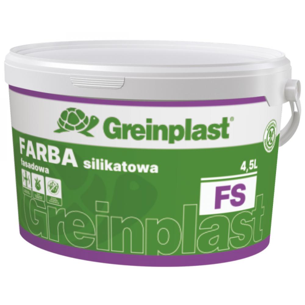 Краска силикатная фасадная FS. BAZA В GREINPLAST 4,5л