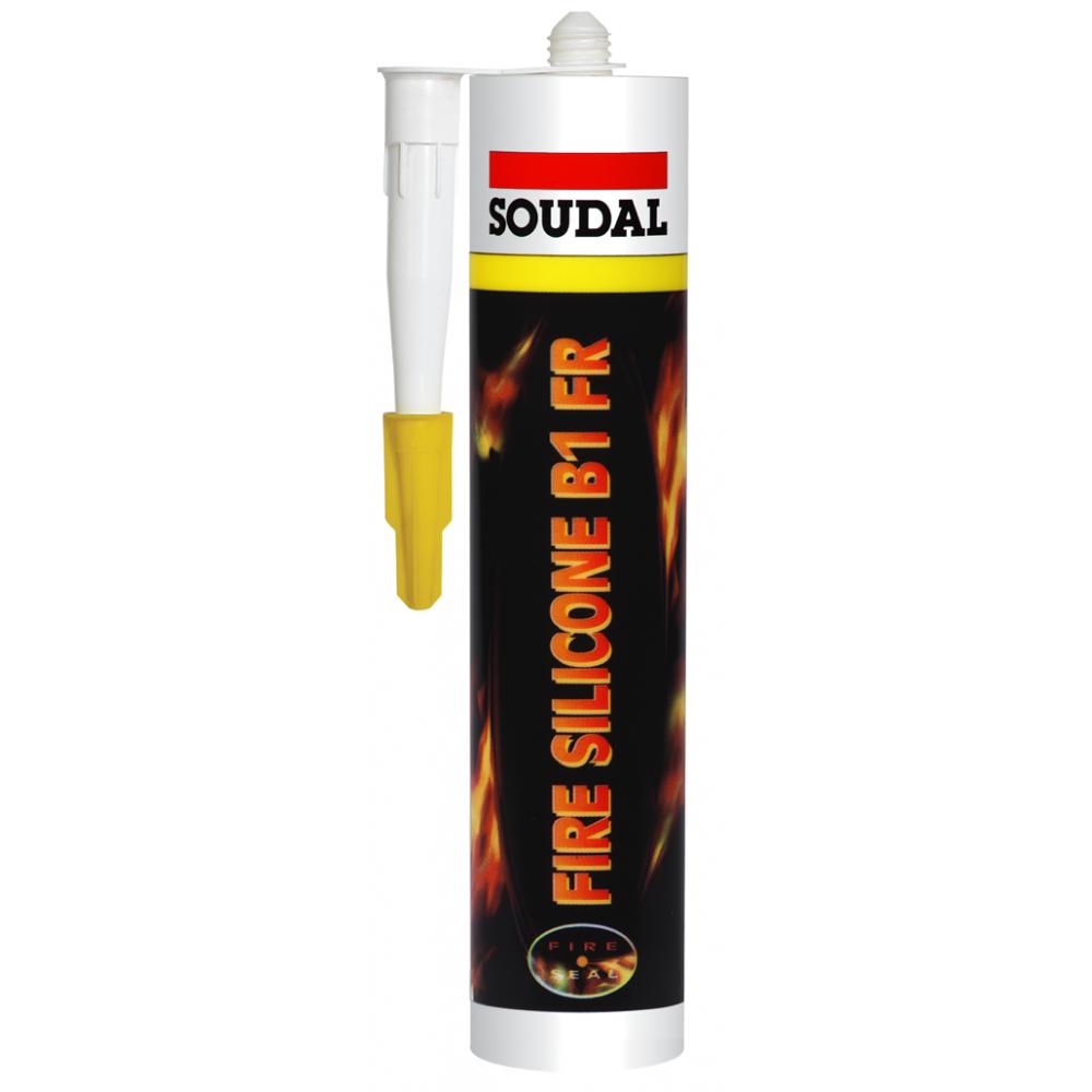 Герметик силіконовий  пожежний В1 FR SOUDAL 310мл