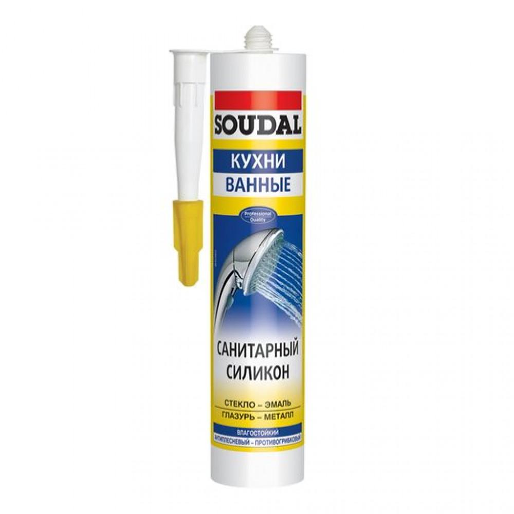 Герметик силиконовый санитарный белый SOUDAL 280мл