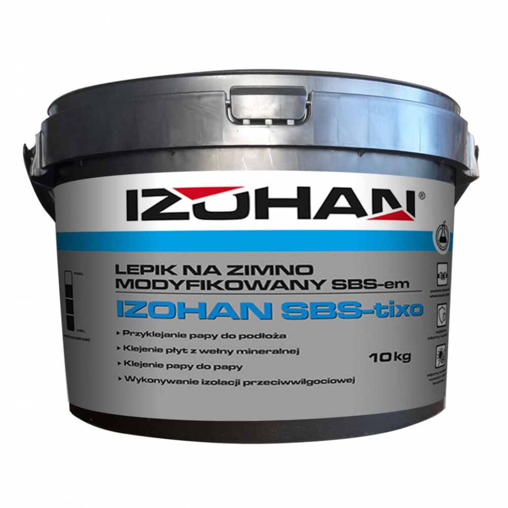 Клей битумный для рубероида IZOHAN SBS 10кг.