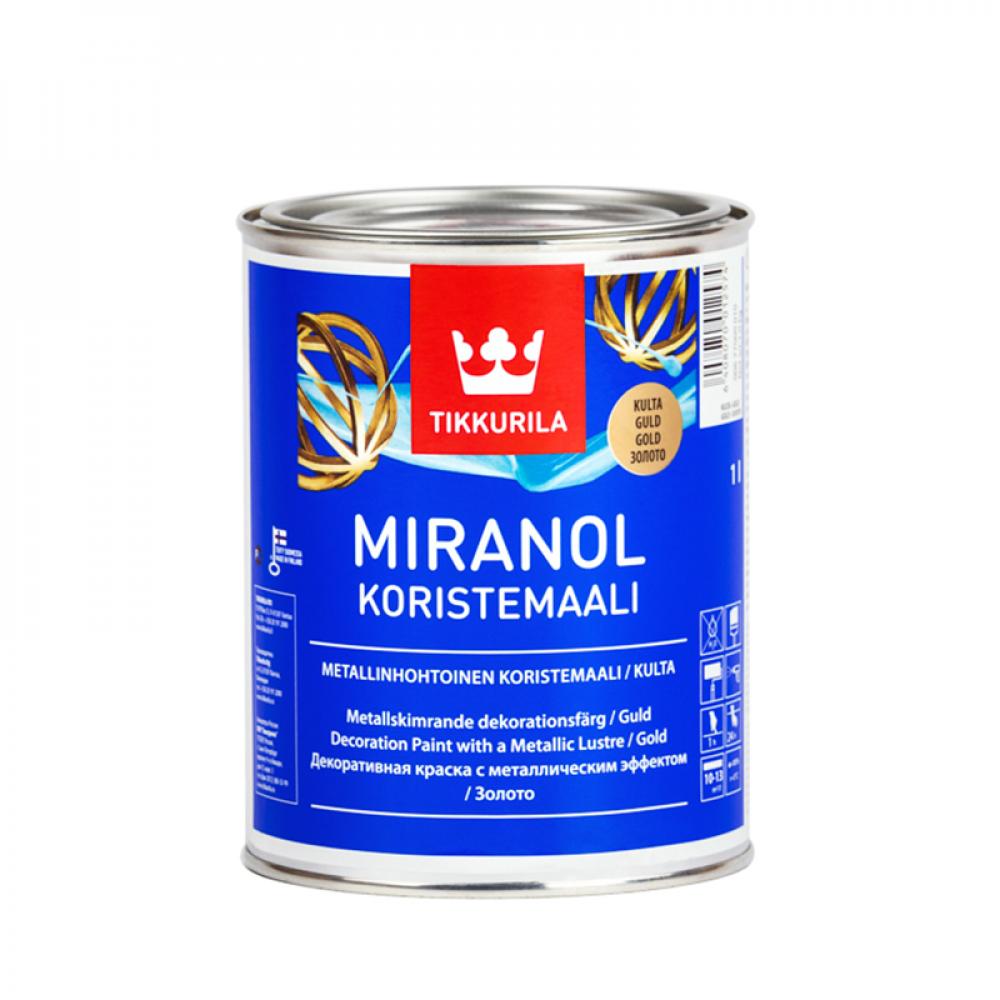 Миранол TIKKURILA эмаль алкидная декор золото 1л