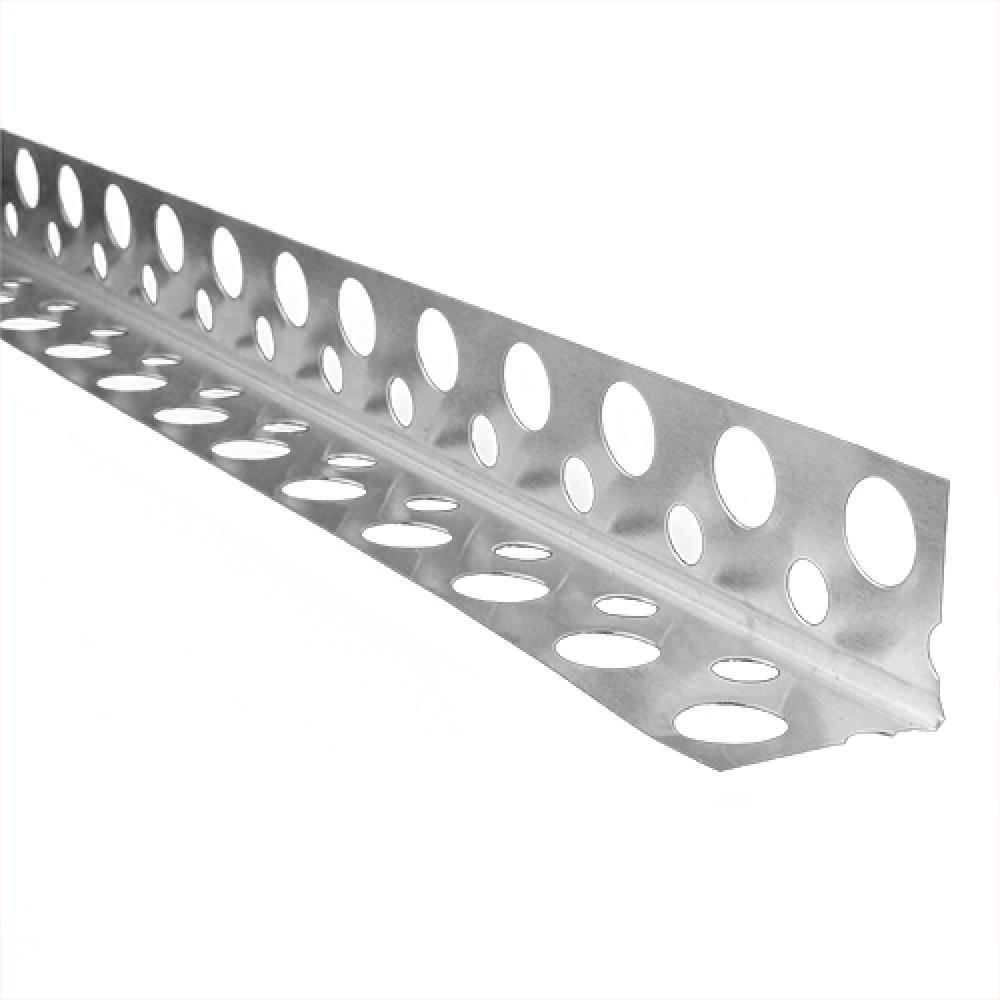 Уголок алюминиевый перфорированный 23х23 * 0,35 2,5м U