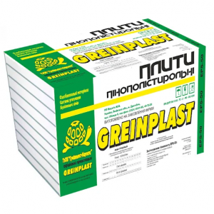Пінопласт (EPS еко 30)  GREINPLAST (0,5-1м) 20мм
