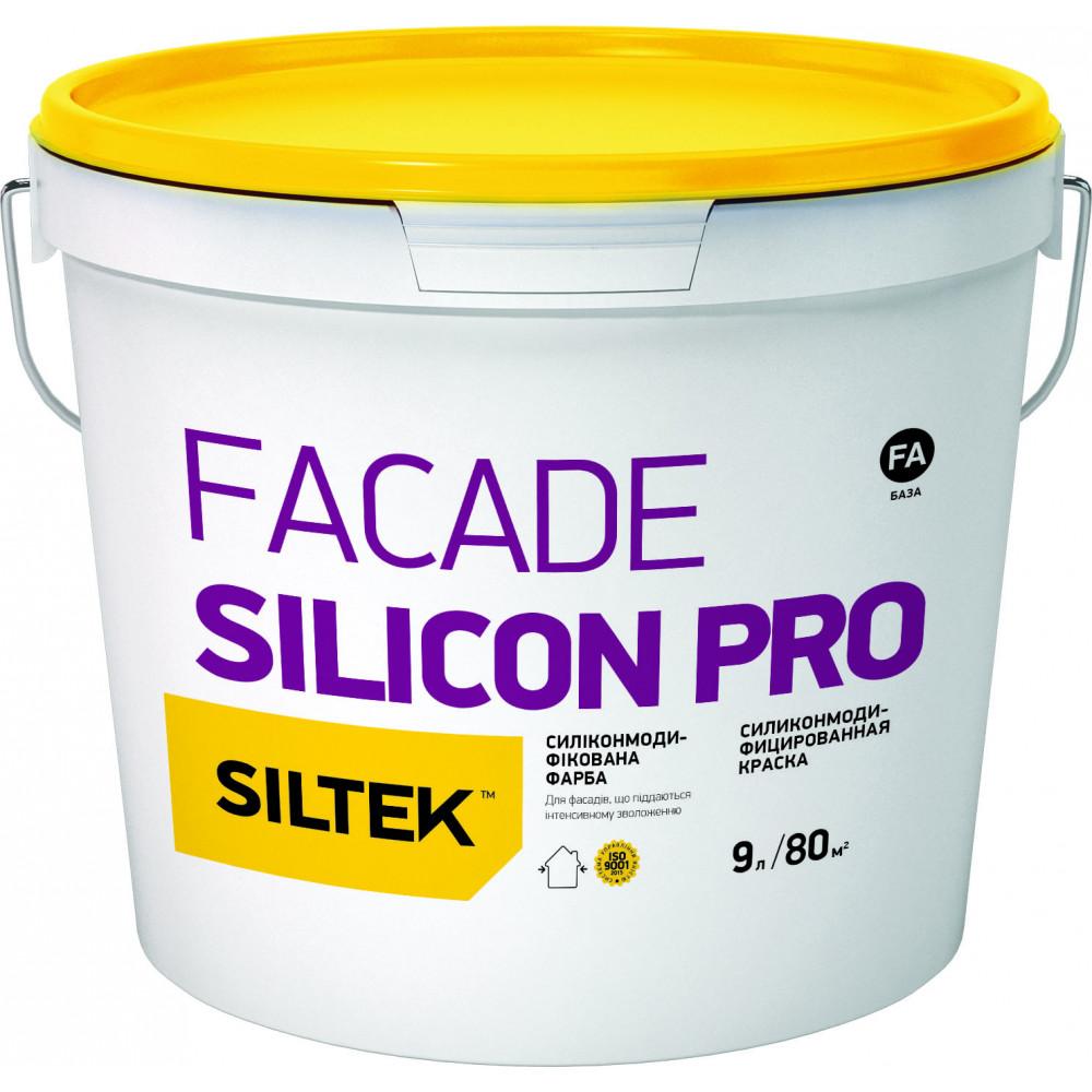 Краска силиконовая премиум-класса Siltek Facade Silicon Pro база FА (9 л)