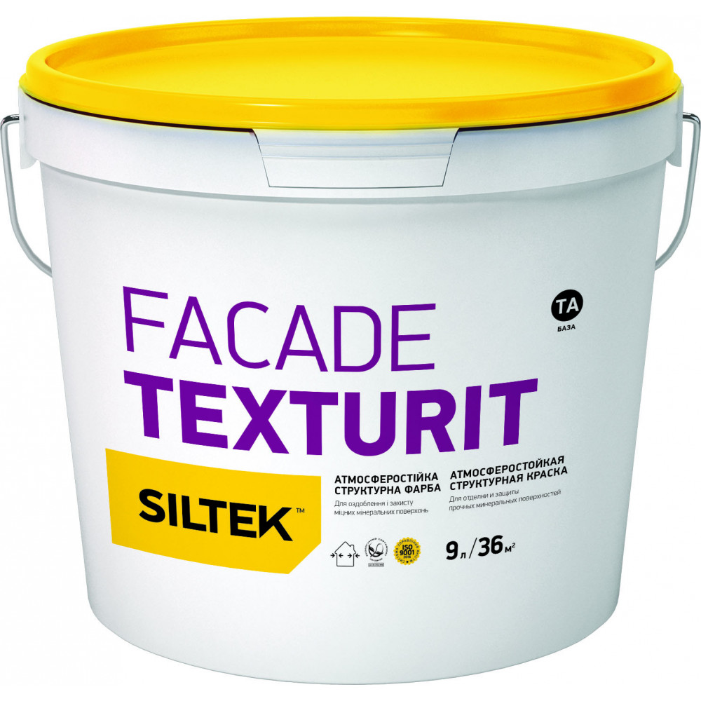 Фарба структурна Fasade Texturit, база ТА Сілтек 9л