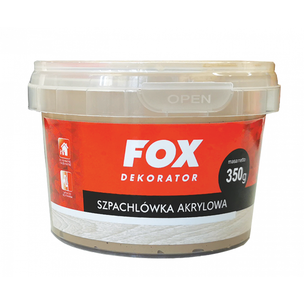 Шпаклевка для дерева FOX DEKORATOR Profesionalna akrylowa 02 sosna 350g
