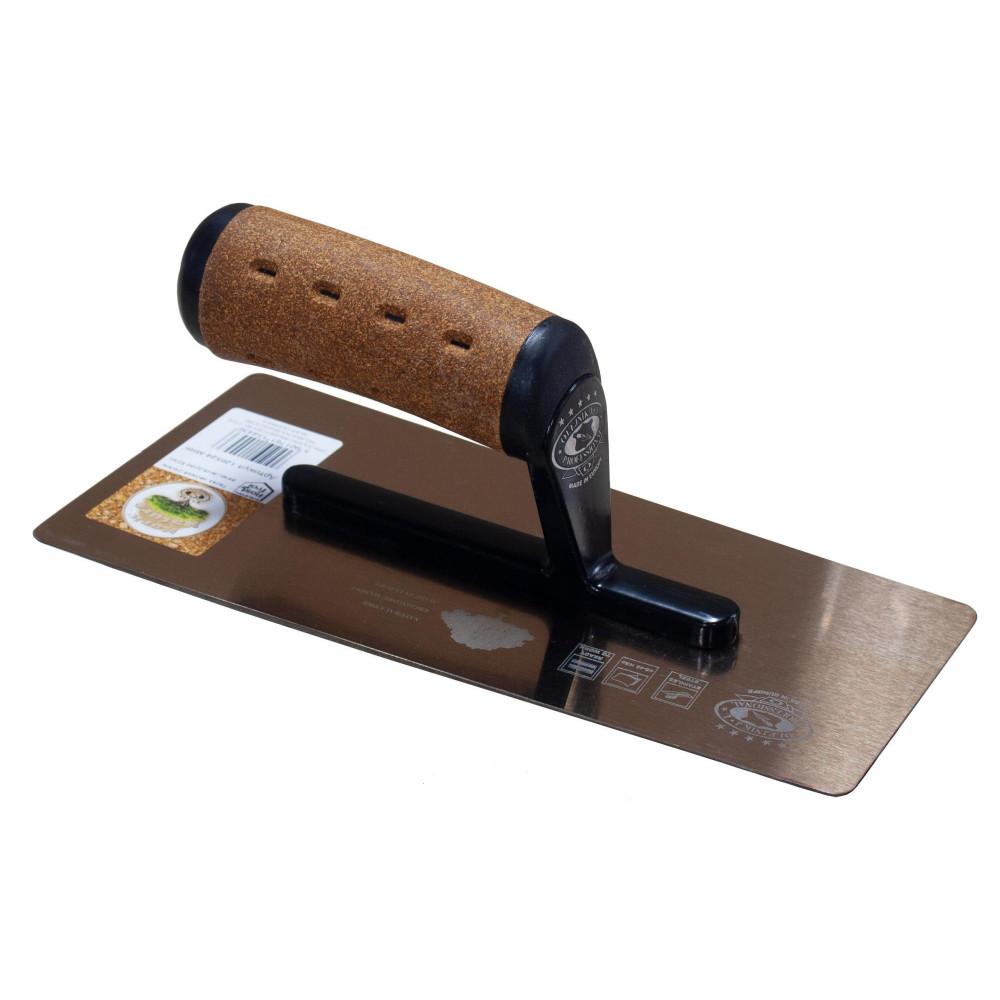 Терка нержавіюча 240мм венеціанська ручка корок OLEJNIK