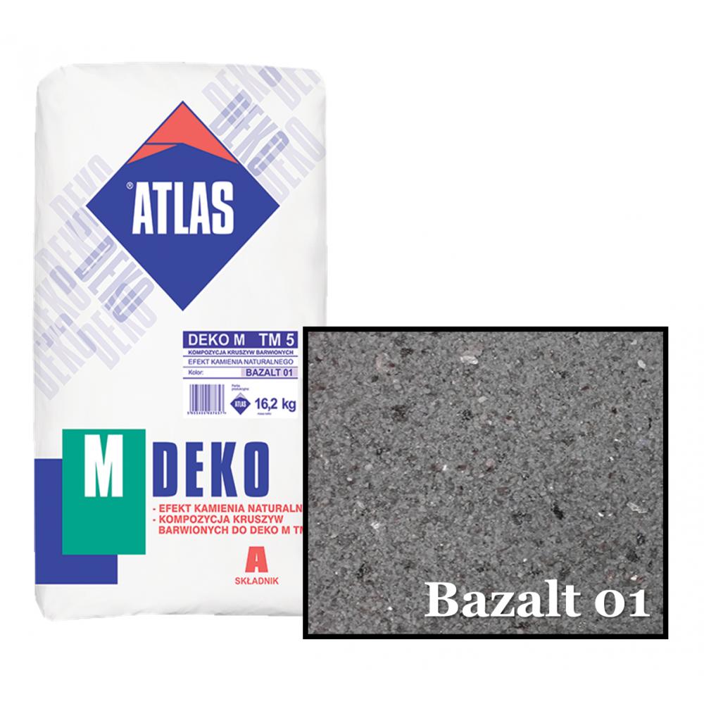 Композиція крихти для мозаїчної штукатурки - ефект BAZALT 01 ATLAS DEKO M ТМ5 16,2кг.