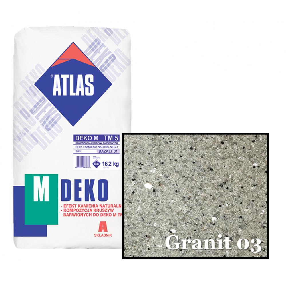 Композиция крошки для мозаичной штукатурки - эффект GRANIT 03 ATLAS DEKO M ТМ5 16,2кг.