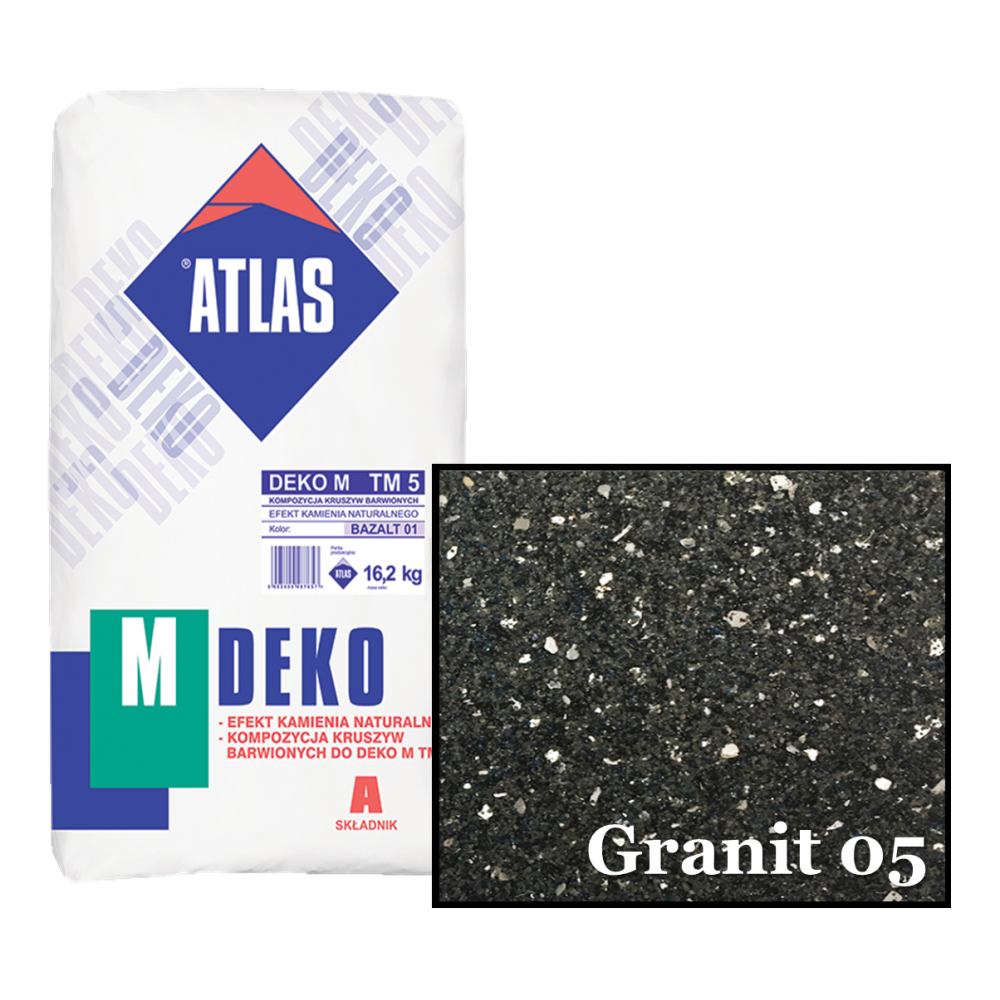 Композиція крихти для мозаїчної штукатурки - ефект GRANIT 05 ATLAS DEKO M ТМ5 16,2кг.